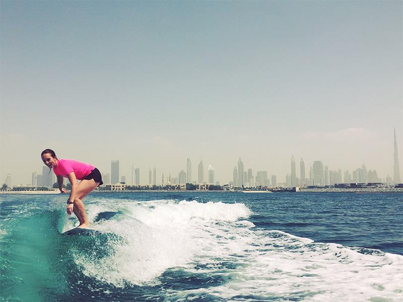 wake surfing dubai